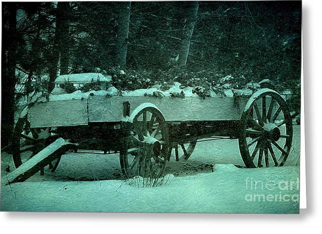 Buckboard Greeting Cards - Buckboard Greeting Card by The Stone Age