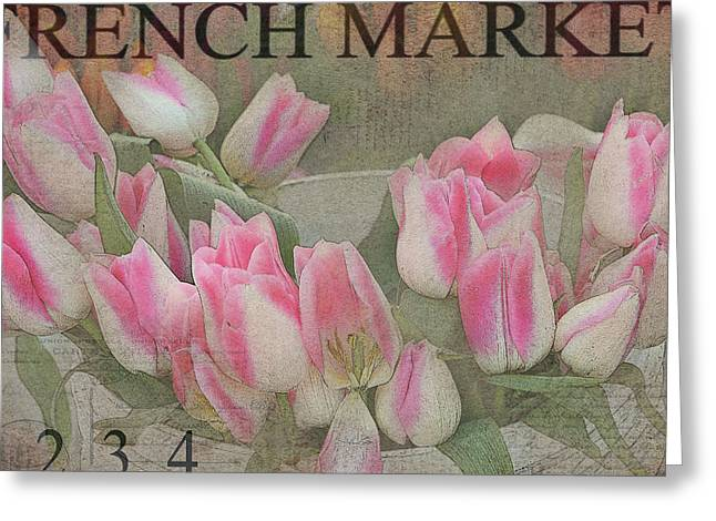 Texture Flower Greeting Cards - Bucketfull Greeting Card by Rebecca Cozart