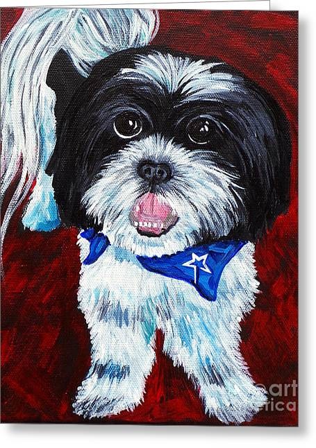 Doggies Greeting Cards - Buckeye Greeting Card by Deb Arndt