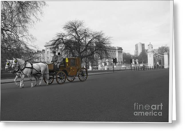 Family Buckingham Palace Greeting Cards - Buckingham Palace Greeting Card by Al Bourassa