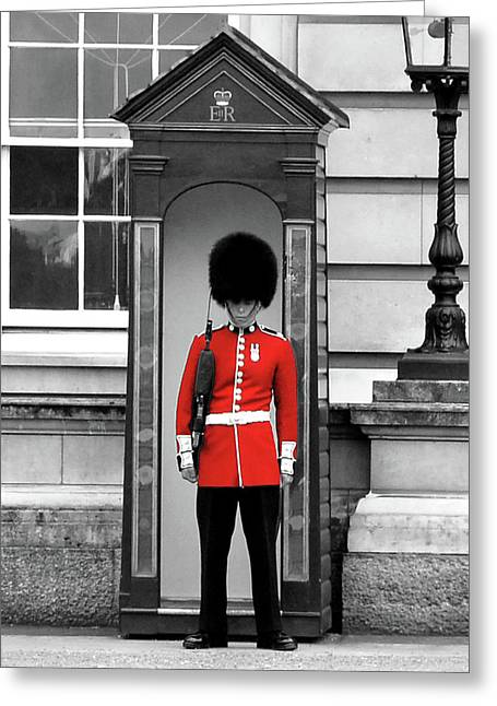 Selective Colouring Greeting Cards - Buckingham Palace Greeting Card by Graham Taylor