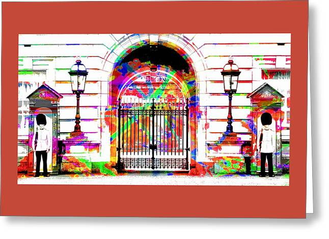 Buckingham Palace Greeting Card by Jean Francois Gil