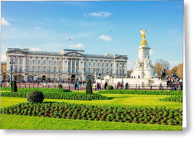 Buckingham Palace Sunny Day Greeting Card by Pati Photography