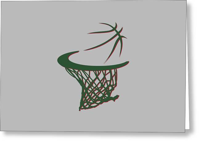 Bucks Basketball Hoop Greeting Card by Joe Hamilton