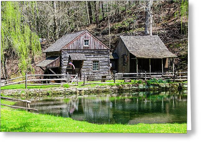 Bucks County In The Spring - Cuttalossa Mill Greeting Card by Bill Cannon