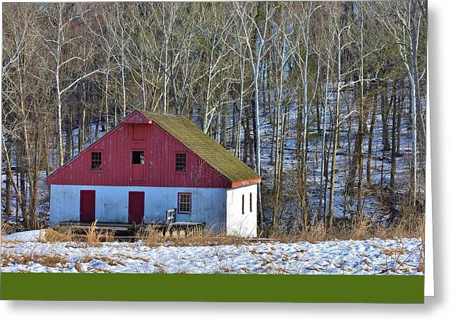 Bucks County Mill  Greeting Card by Val Arie