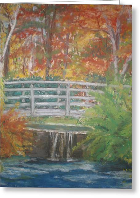 Garden Art Pastels Greeting Cards - Bucks Garden  Greeting Card by Susan Haiken