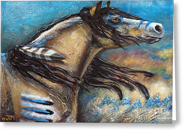 Paso Fino Stallion Greeting Cards - Buckskin Bell Blues Greeting Card by Jonelle T McCoy