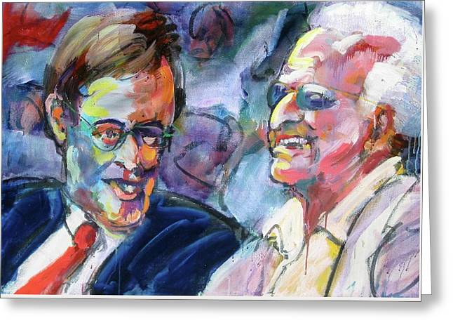 Brewer Paintings Greeting Cards - Bud and Bob Greeting Card by Les Leffingwell