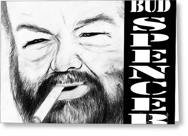 Bud Spencer Greeting Card by Stefano Senise