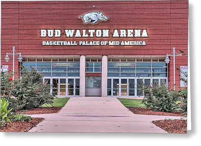 Bud Walton Arena Greeting Card by JC Findley