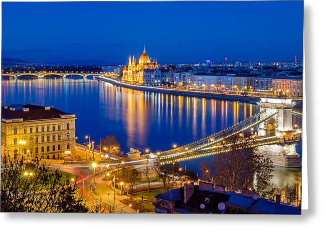 River View Greeting Cards - Budapest Greeting Card by Marco Saracco