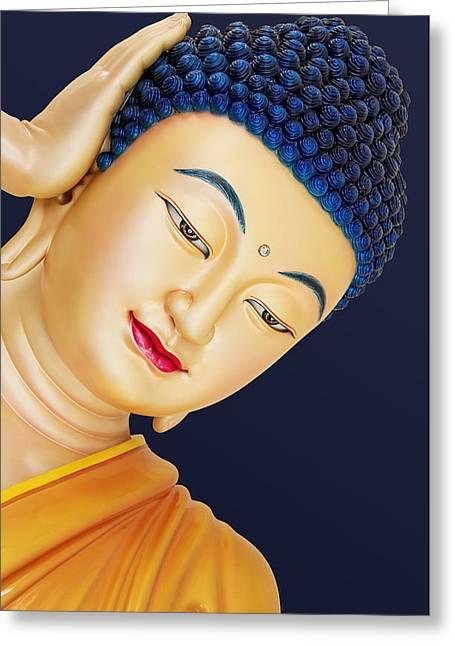 Buddha 2 Greeting Card by Mark Ashkenazi