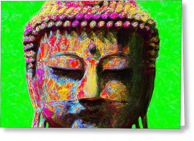 Buddha 20130130m100 Greeting Card by Wingsdomain Art and Photography