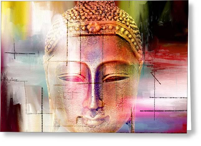 Buddha  4 Greeting Card by Mark Ashkenazi