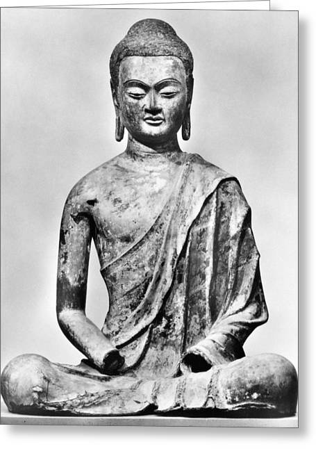 Statue Portrait Photographs Greeting Cards - Buddha (563?-?482 B.c.) Greeting Card by Granger