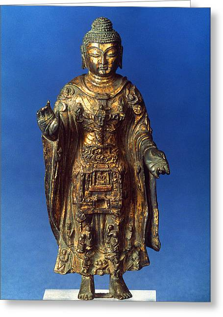 7th Century Greeting Cards - BUDDHA, 7th CENTURY A.D Greeting Card by Granger