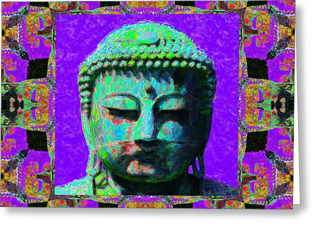 Sizes Greeting Cards - Buddha Abstract Window 20130130m28 Greeting Card by Wingsdomain Art and Photography