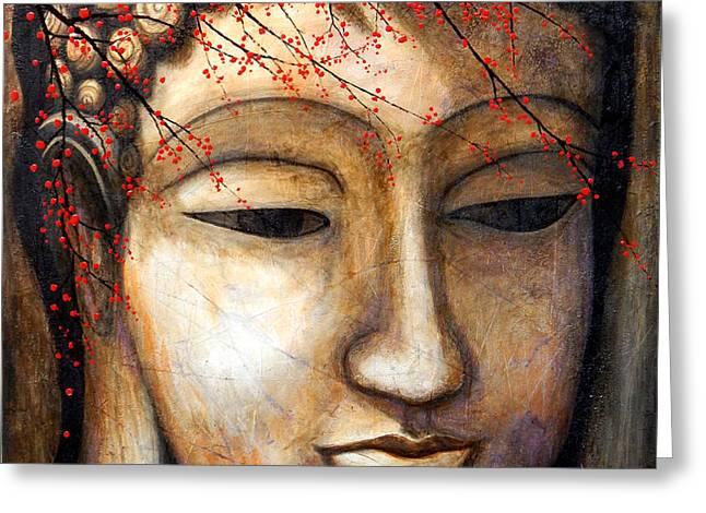 Buddha Greeting Card by Angel Ortiz