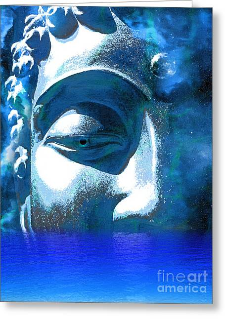 Recently Sold -  - Statue Portrait Greeting Cards - Buddha Emergence Greeting Card by Khalil Houri