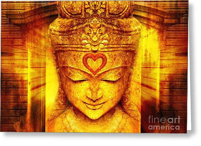 Buddha Entrance Greeting Card by Khalil Houri