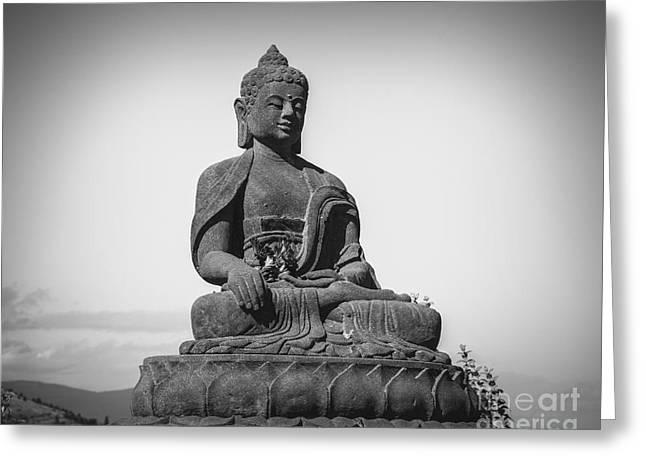 Religion Greeting Cards - Buddha in Meditation Greeting Card by Jamie Tipton