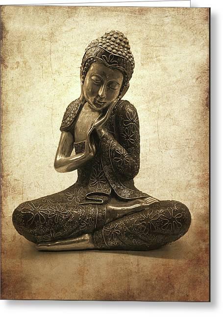Buddha Lotus Greeting Card by Madeleine Forsberg