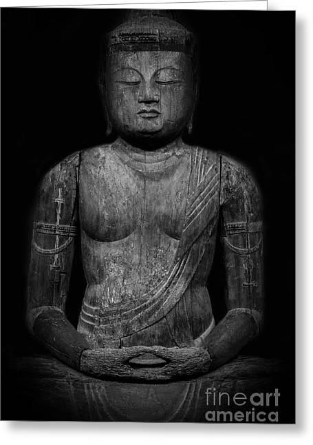 Buddha Mahavairocana Greeting Card by Edward Fielding