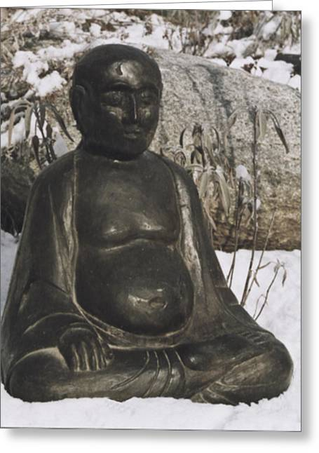 Buddha Sculptures Greeting Cards - Buddha Greeting Card by Michael Rutland