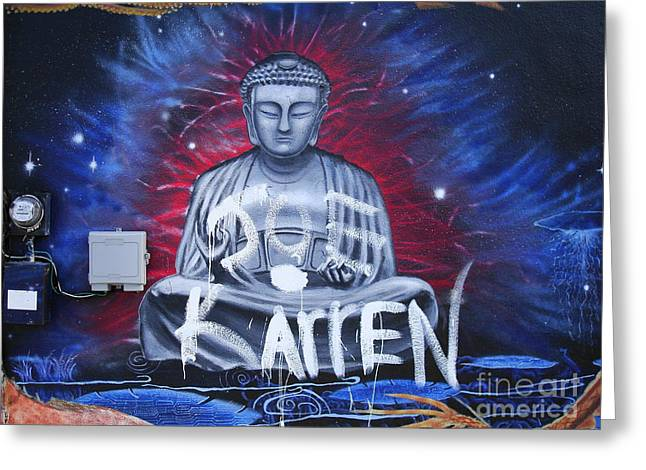Electrical Meter Greeting Cards - Buddha Moves On Greeting Card by Chuck Taylor