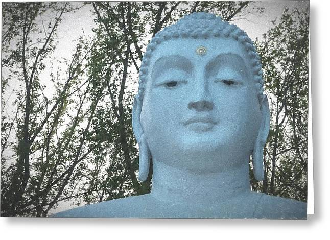 Statue Portrait Digital Art Greeting Cards - Buddha Nature Greeting Card by Terry DeLuco