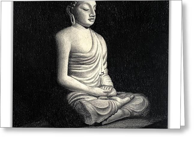 Buddha Greeting Card by Rachna Gupta