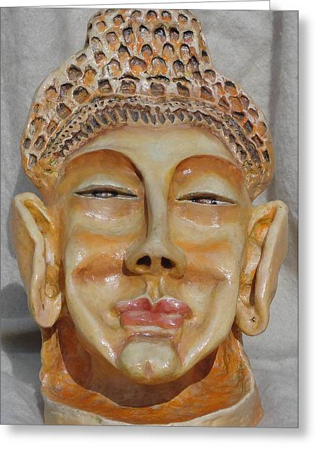 Buddha Sculptures Greeting Cards - Buddha Greeting Card by Rajesh Chopra