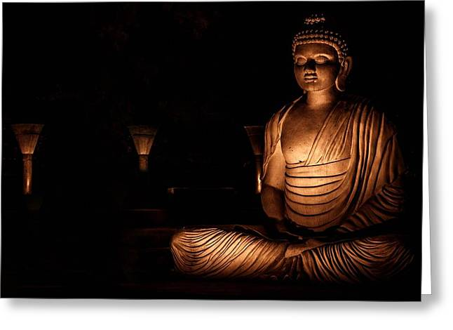 Inner Self Photographs Greeting Cards - Buddha Greeting Card by Savinder Pal Singh