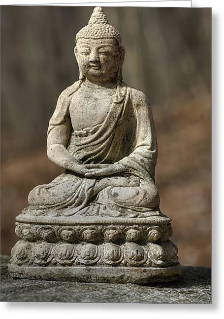 Buddha Statue Greeting Card by Alisha Clarke