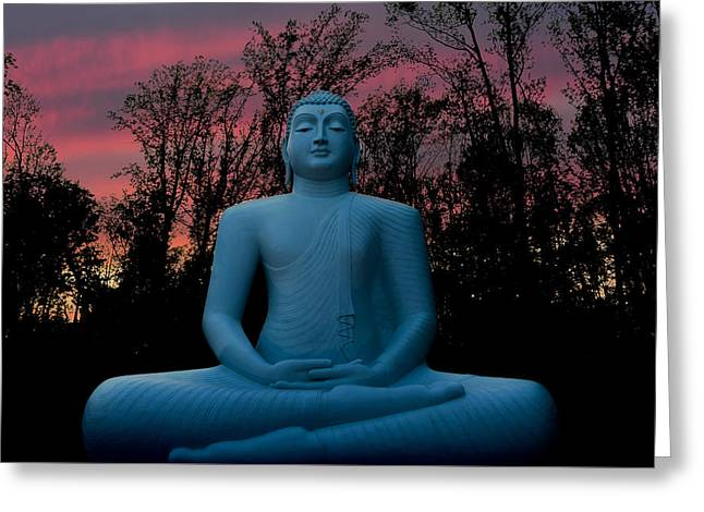 Souls Greeting Cards - Buddha Greeting Card by Terry DeLuco