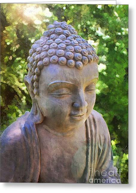 Religion Greeting Cards - Buddha the Enlightened Teacher 2015 Greeting Card by Kathryn Strick