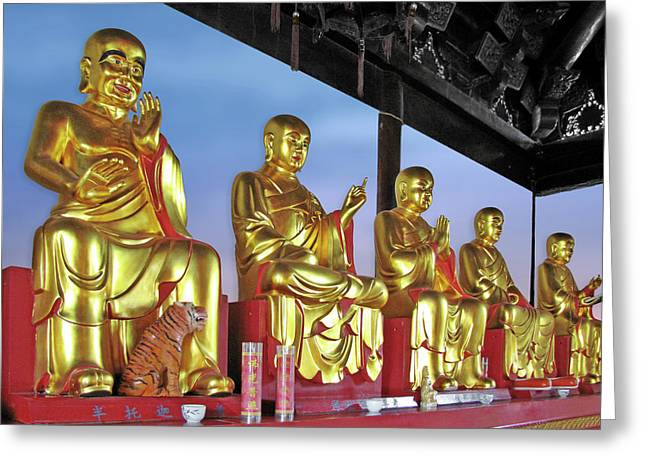 Buddhas Delight - Representations Of Buddhism Greeting Card by Christine Till