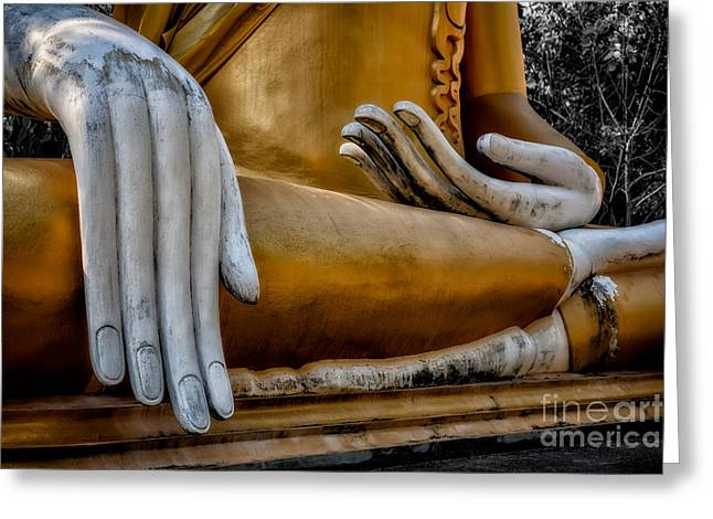 Religious Digital Greeting Cards - Buddhist Statue Greeting Card by Adrian Evans