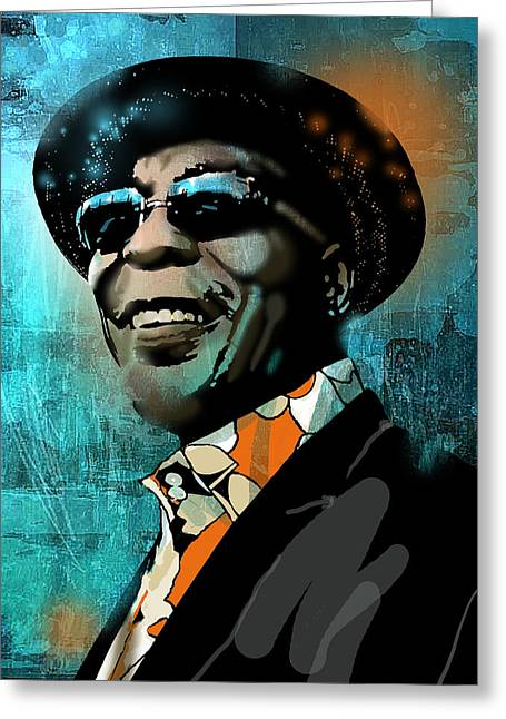 African-american Paintings Greeting Cards - Buddy Guy Greeting Card by Paul Sachtleben