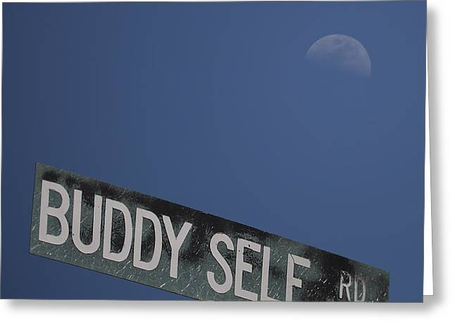 Loving Self Greeting Cards - Buddy Self Rd Greeting Card by D Wallace