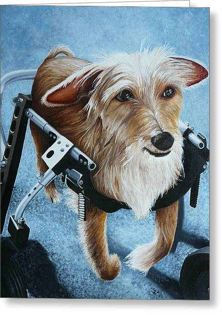 Wheelchair Greeting Cards - Buddys Hope Greeting Card by Vic Ritchey