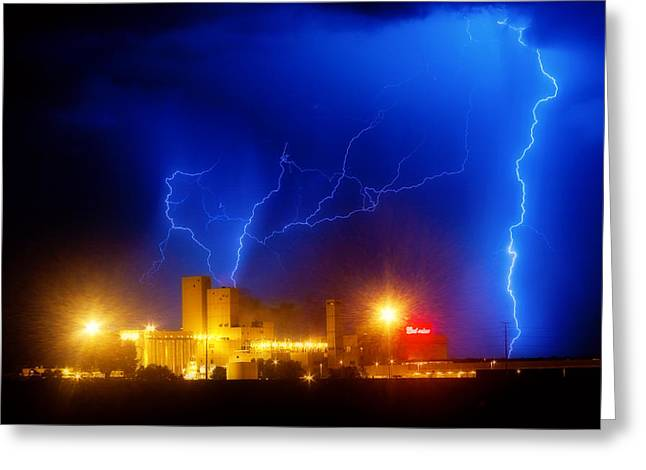 Lightning Strike Greeting Cards - Budweiser Power Dream Greeting Card by James BO  Insogna