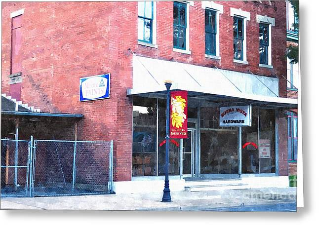 Rockbridge County Greeting Cards - Buena Vista Hardware Greeting Card by Kathy Jennings