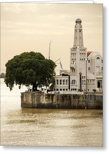 Buenes Aires Guide Greeting Cards - Buenos Aires Lighthouse Greeting Card by For Ninety One Days
