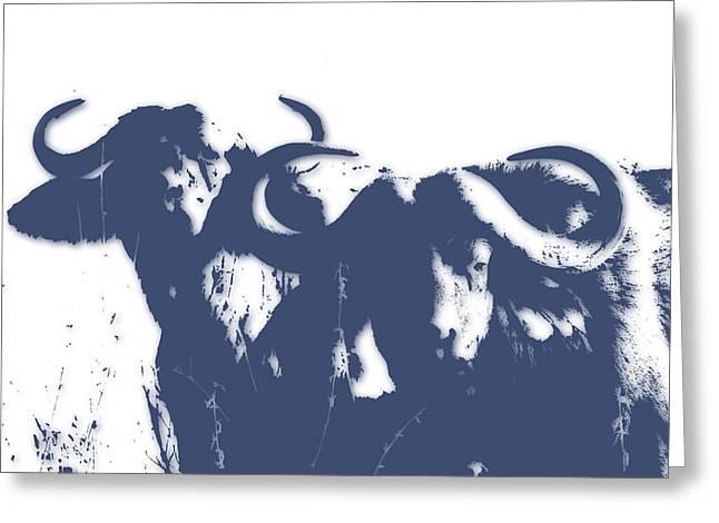 Buffalo 2 Greeting Card by Joe Hamilton