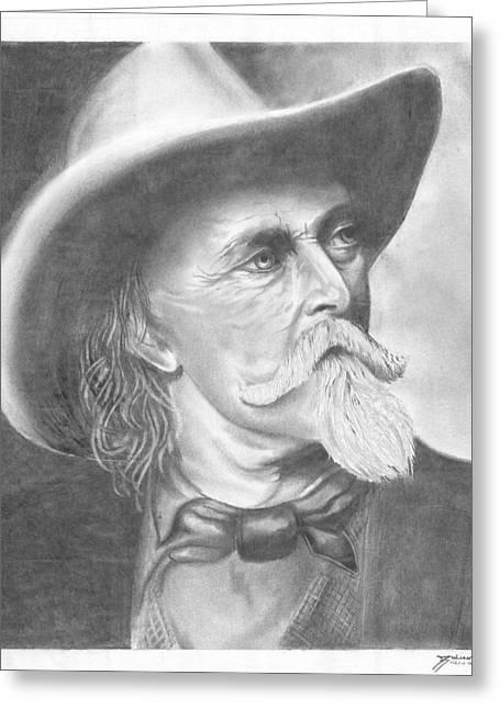 Wild Bill Hickock Greeting Cards - Buffalo Bill Cody Greeting Card by Julian  B
