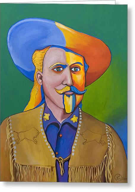 Buffalo Bill Cody Greeting Cards - Buffalo Bill Greeting Card by Robert Lacy