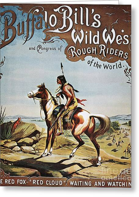 Chief Red Cloud Greeting Cards - Buffalo Bills Show Poster Greeting Card by Granger