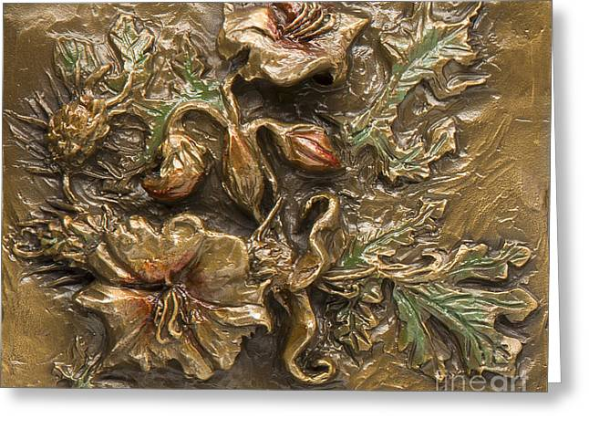 Rocky Mountain Reliefs Greeting Cards - Buffalo Burr Flower Greeting Card by Dawn Senior-Trask